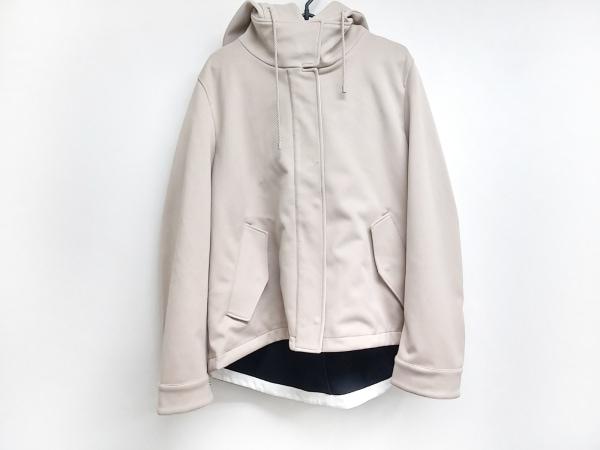 ICB(アイシービー) コート サイズ44 L レディース美品  ベージュ 冬物