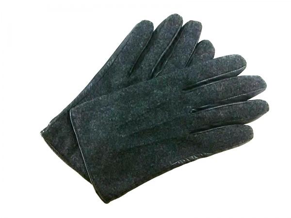 UNITED ARROWS(ユナイテッドアローズ) 手袋 M メンズ美品  黒 レザー×ウール