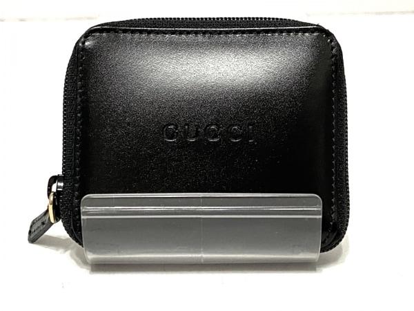 GUCCI(グッチ) コインケース - 黒 ラウンドファスナー レザー
