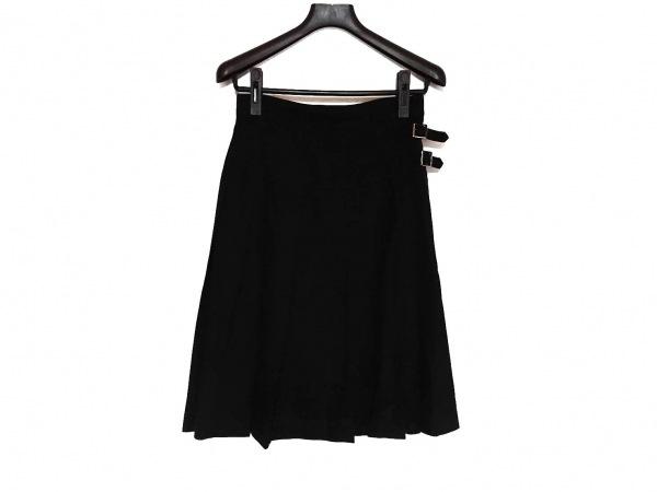 レキップ ヨシエイナバ 巻きスカート サイズ36 S レディース新品同様  黒 プリーツ