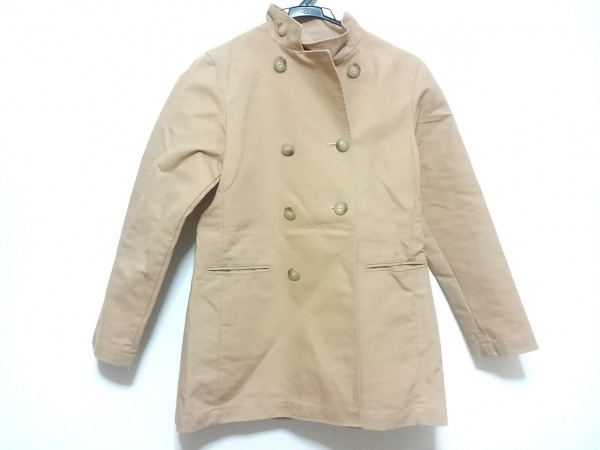 ラルフローレン コート サイズ9 M レディース ベージュ スタンドカラー/春・秋物