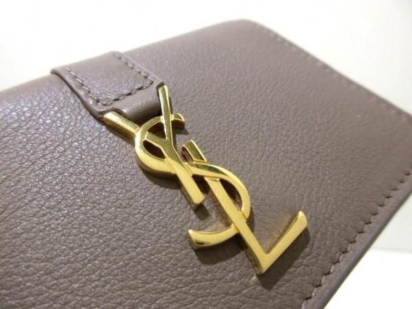 サンローランパリ 3つ折り財布美品  YSL タイニーウォレット 459880 レザー