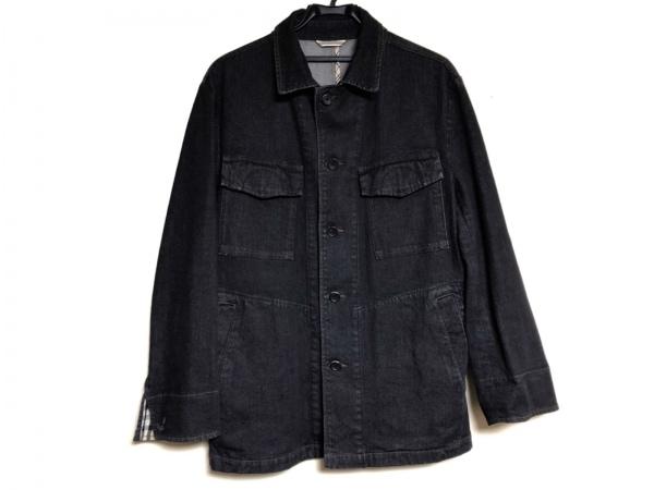 Burberry LONDON(バーバリーロンドン) コート サイズM メンズ 黒 デニム/ネーム刺繍