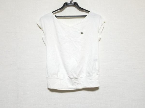 バーバリーブルーレーベル 半袖カットソー サイズ38 M レディース美品  白