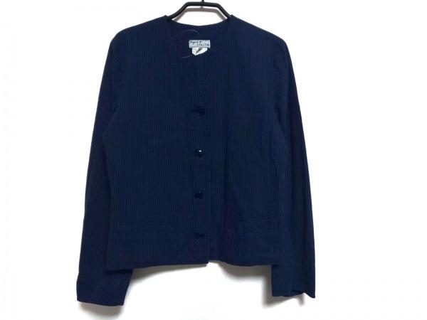 agnes b(アニエスベー) ジャケット サイズG レディース ブルー×黒 LOLiTA/ストライプ