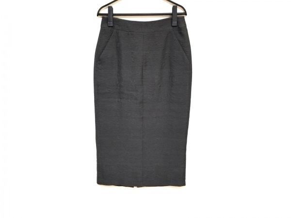ジョルジオアルマーニ ロングスカート サイズ40 M レディース美品  ダークグレー