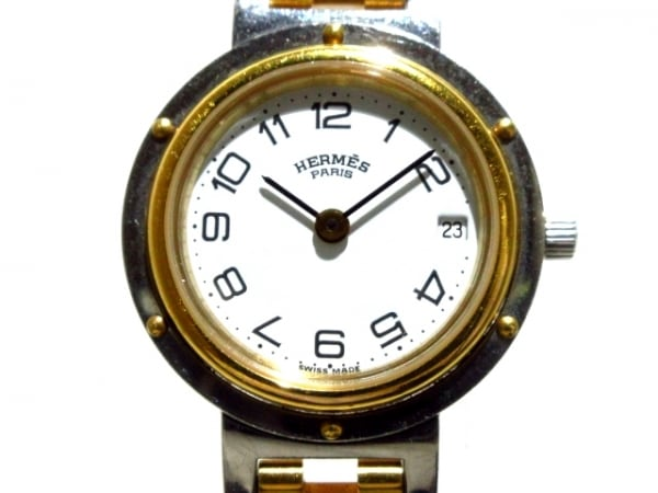HERMES(エルメス) 腕時計 クリッパー レディース 白