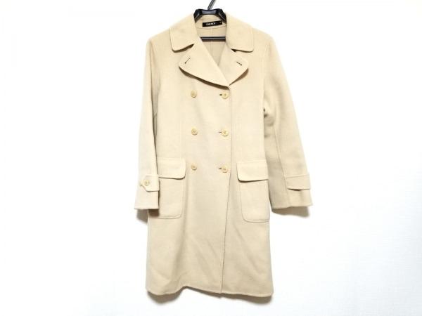 DKNY(ダナキャラン) コート サイズ4 XL レディース美品  アイボリー 冬物