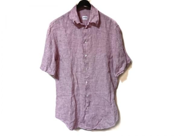 ARMANICOLLEZIONI(アルマーニコレッツォーニ) 半袖シャツ サイズM メンズ美品  ピンク