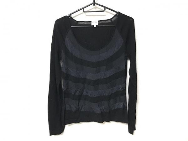 アルマーニコレッツォーニ 長袖セーター サイズ42 M レディース美品  黒×グレー