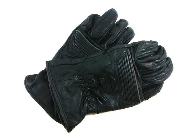 HARLEY DAVIDSON(ハーレーダビッドソン) 手袋 S メンズ美品  黒 レザー