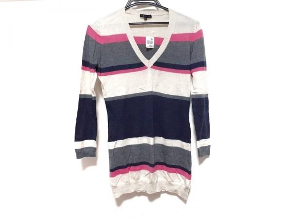 セオリー 長袖セーター サイズ2 S レディース新品同様  グレー×ピンク×マルチ