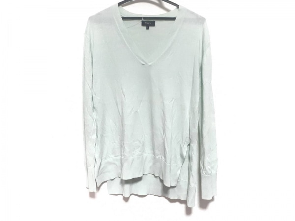 theory(セオリー) 長袖セーター サイズ5 XS レディース美品  ライトグリーン
