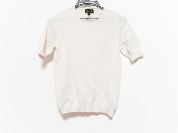 Drawer(ドゥロワー) 半袖セーター サイズ1 S レディース美品  アイボリー カシミヤ