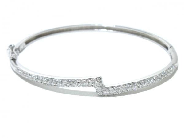STAR JEWELRY(スタージュエリー) バングル美品  K18WG×ダイヤモンド 0.73カラット