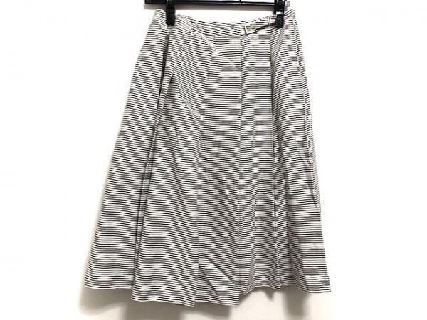 DRESSTERIOR(ドレステリア) 巻きスカート レディース美品  白×ダークグレー ボーダー