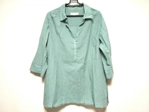自由区/jiyuku(ジユウク) 七分袖カットソー サイズ46 XL レディース美品  グリーン