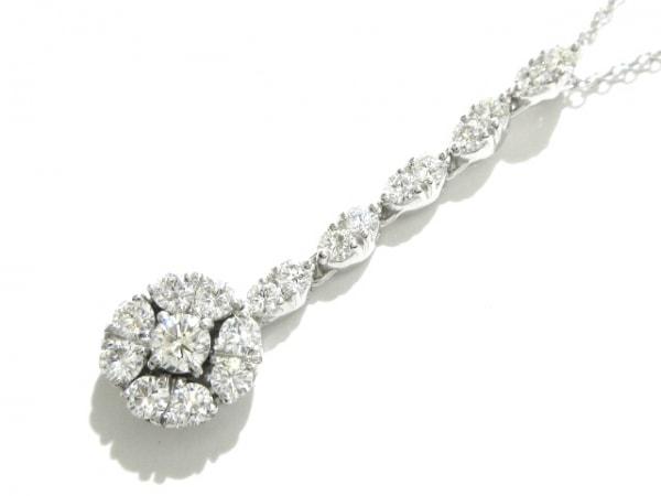 PonteVecchio(ポンテヴェキオ) ネックレス新品同様  K18WG×ダイヤモンド