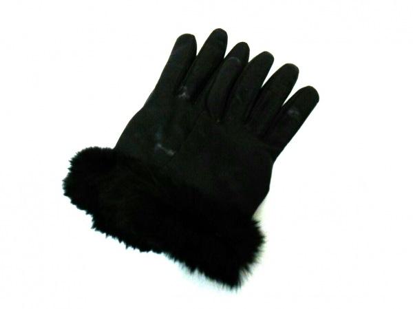 Chloe(クロエ) 手袋 レディース美品  黒 レザー×ファー