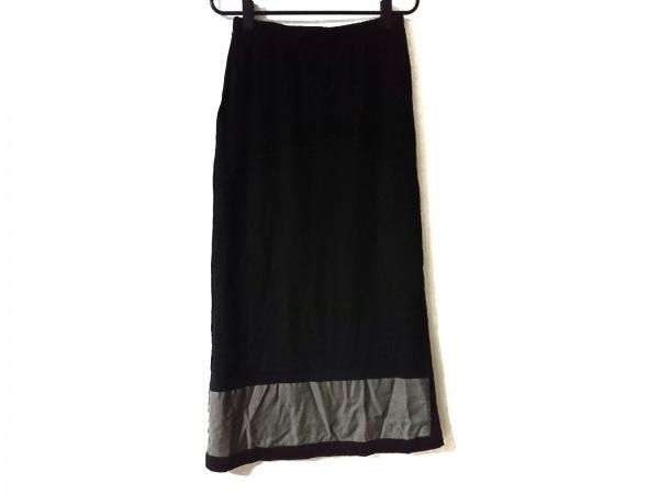 コムデギャルソン ロングスカート サイズF レディース美品  黒×ブラウン