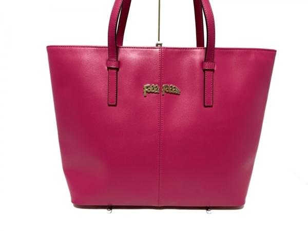 FolliFollie(フォリフォリ) トートバッグ美品  ピンク レザー