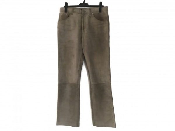LOUIS VUITTON(ルイヴィトン) パンツ サイズ48 L メンズ ベージュ スエード