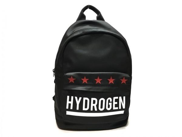 HYDROGEN(ハイドロゲン) リュックサック 黒×アイボリー PVC(塩化ビニール)