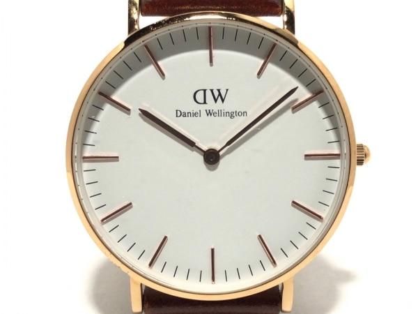 Daniel Wellington(ダニエルウェリントン) 腕時計 B36R7 レディース 革ベルト 白