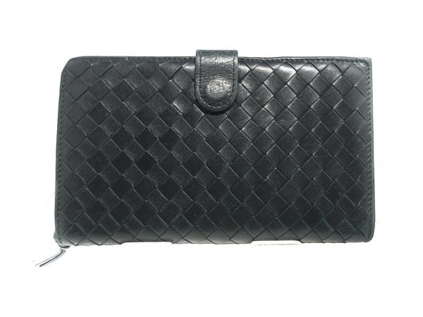 BOTTEGA VENETA(ボッテガヴェネタ) 2つ折り財布 - 114074 黒 レザー