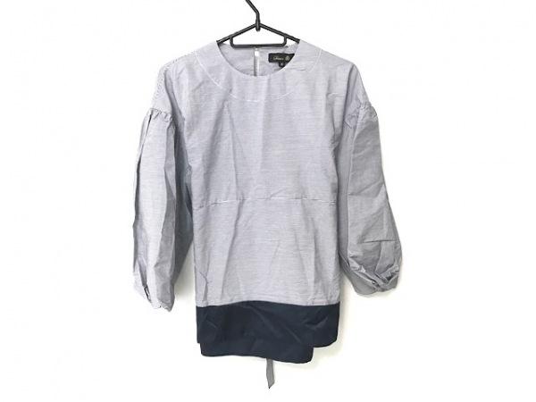 ドゥロワー 七分袖カットソー サイズ36 S レディース美品  ネイビー×白 ボーダー
