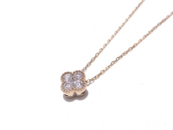 ポンテヴェキオ ネックレス美品  K18PG×ダイヤモンド 5Pダイヤ/0.15カラット
