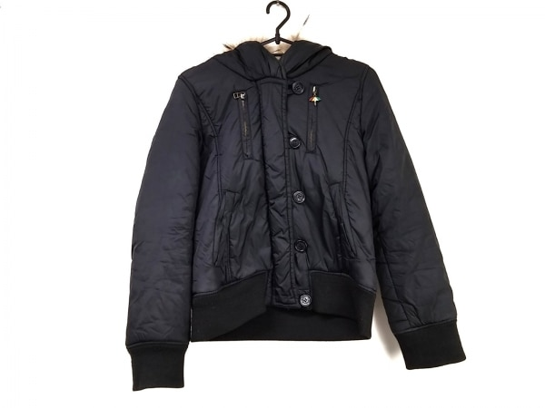 アーノルドパーマー ダウンジャケット サイズ1 S レディース美品  黒×ブラウン 冬物