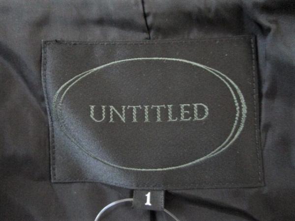 UNTITLED(アンタイトル) レディースパンツスーツ サイズ1 S レディース 黒 ストライプ