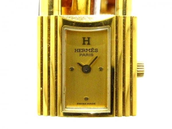 HERMES(エルメス) 腕時計 ケリーウォッチ レディース 革ベルト/〇Y ゴールド