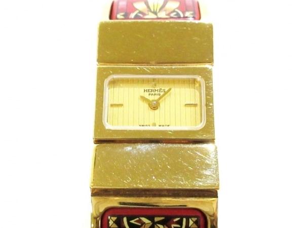 HERMES(エルメス) 腕時計美品  ロケ L01.201 レディース ゴールド