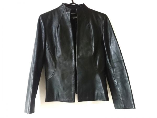 DKNY(ダナキャラン) ライダースジャケット サイズ2 M レディース美品  黒 春・秋物