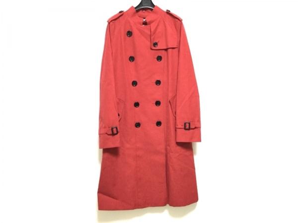 バーバリーロンドン コート サイズ40 L レディース レッド 冬物/ファー