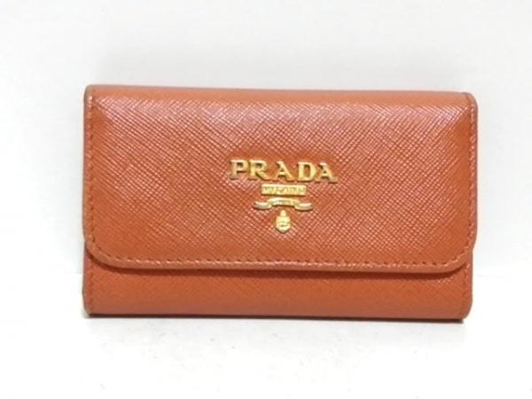 PRADA(プラダ) キーケース - ライトブラウン 6連フック サフィアーノレザー
