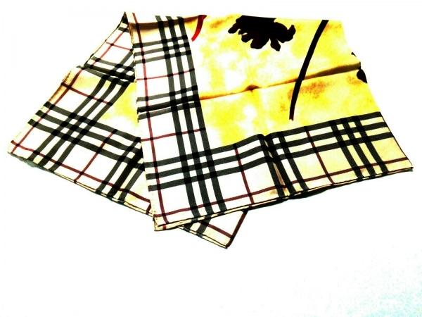Burberry(バーバリー) スカーフ美品  ベージュ×イエロー×マルチ チェック柄