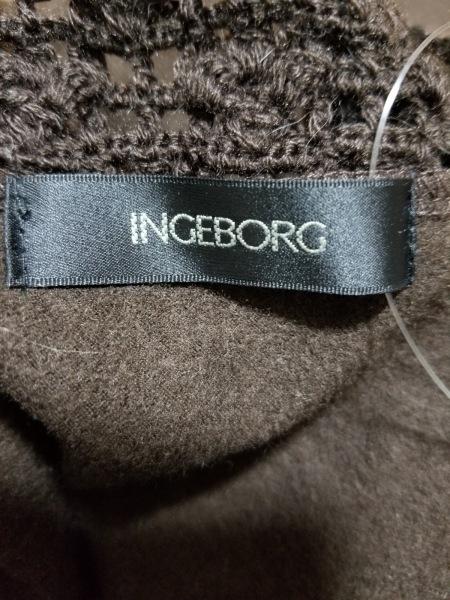 インゲボルグ ワンピース サイズ11 M レディース美品  ダークブラウン ニット