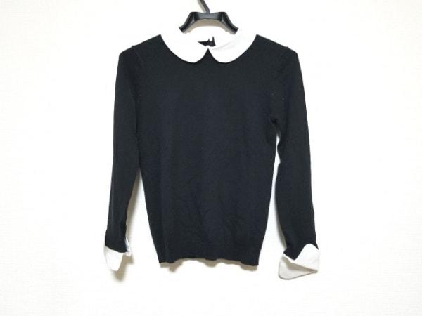 アリスオリビア 長袖セーター サイズXS/TP XS レディース美品  黒×白 襟・袖口着脱可