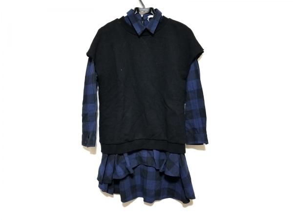 REKISAMI(レキサミ) ワンピース サイズ1 S レディース美品  黒×ネイビー