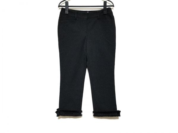 TO BE CHIC(トゥービーシック) パンツ サイズ38 M レディース 黒 スパンコール