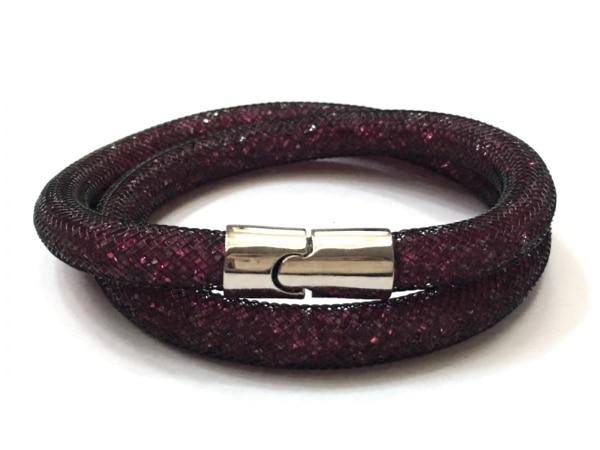 スワロフスキー ブレスレット美品  金属素材×スワロフスキークリスタル 2重