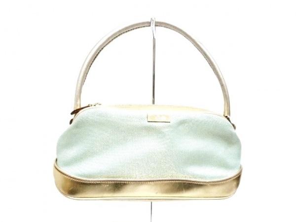 GUCCI(グッチ) ハンドバッグ - 0391133 ライトブルー×ゴールド 化学繊維×レザー