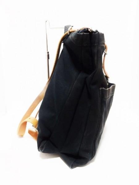 marimekko(マリメッコ) リュックサック 黒 コットン