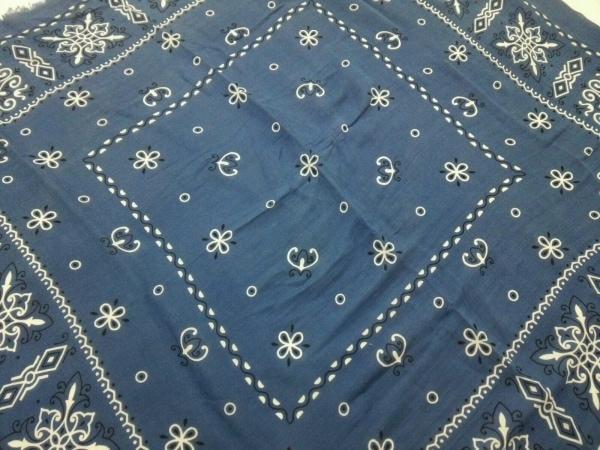 manipuri(マニプリ) スカーフ美品  ブルー×白×黒