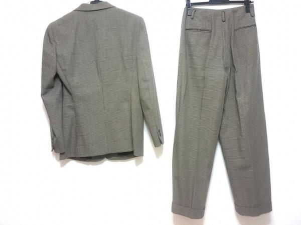 DKNY(ダナキャラン) レディースパンツスーツ レディース ベージュ×黒 千鳥格子
