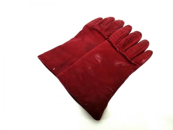 Sermoneta gloves(セルモネータグローブス) 手袋 レディース レッド レザー