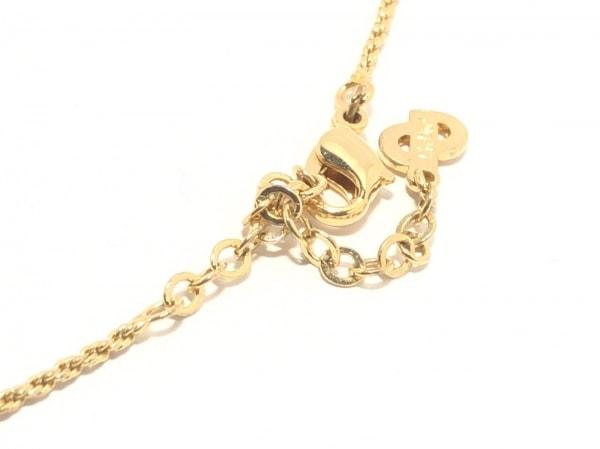 クリスチャンディオール ネックレス 金属素材×ラインストーン ゴールド×クリア